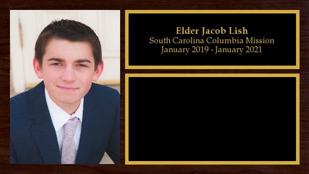 January 2019 to January 2021<br/>Elder Jacob Lish