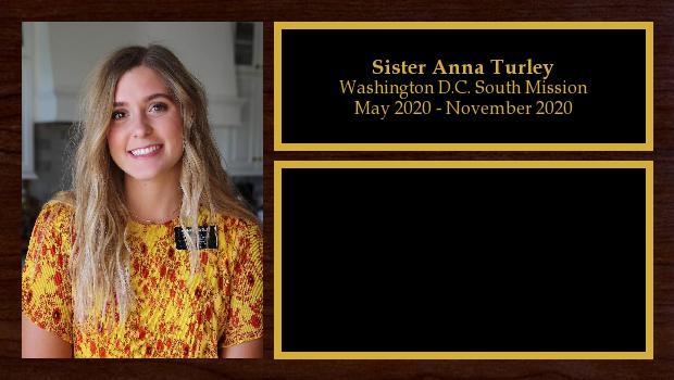 May 2020 to November 2020<br/>Sister Anna Turley
