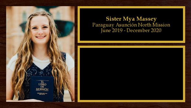 June 2019 to December 2020<br/>Sister Mya Massey