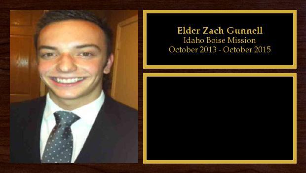 October 2013 to October 2015<br/>Elder Zach Gunnell