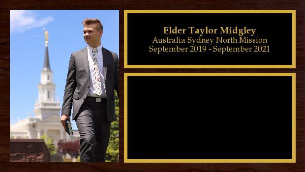 September 2019 to September 2021<br/>Elder Taylor Midgley