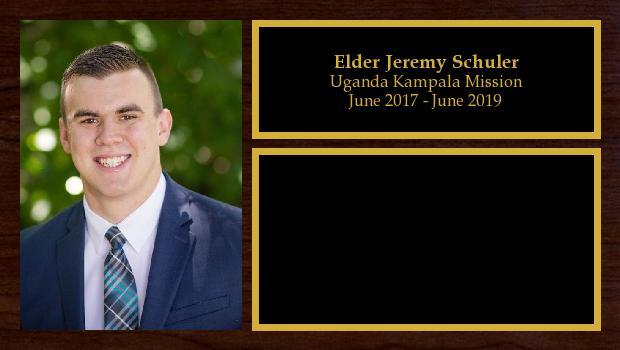 June 2017 to June 2019<br/>Elder Jeremy Schuler