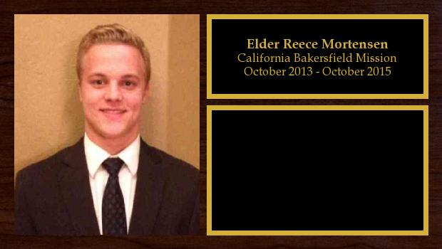 October 2013 to October 2015<br/>Elder Reece Mortensen