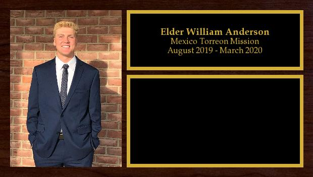 August 2019 to August 2021<br/>Elder William Anderson