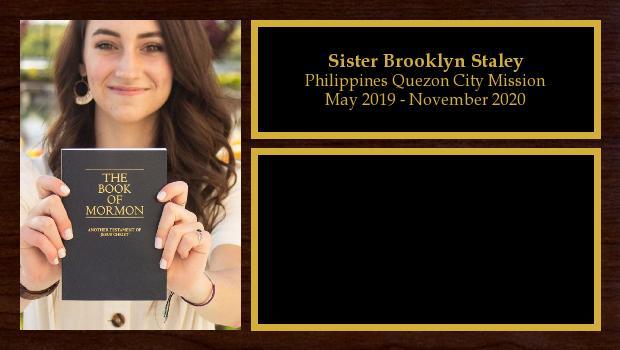 May 2019 to November 2020<br/>Sister Brooklyn Staley