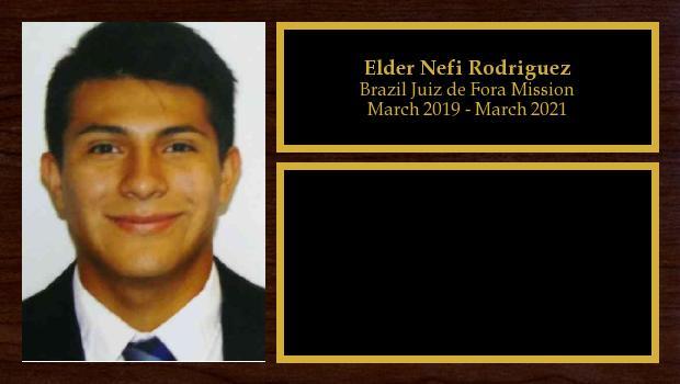 March 2019 to March 2021<br/>Elder Nefi Rodriguez