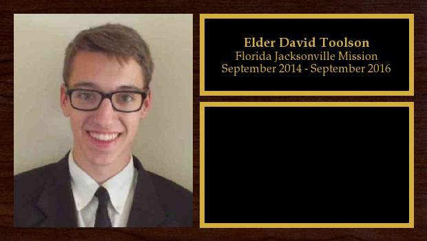 September 2014 to September 2016<br/>Elder David Toolson