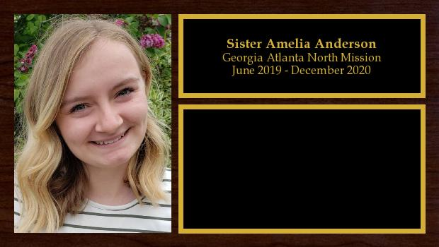 June 2019 to December 2020<br/>Sister Amelia Anderson