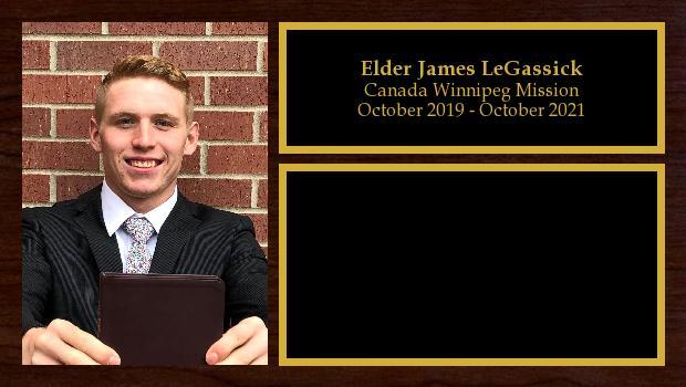 October 2019 to October 2021<br/>Elder James LeGassick