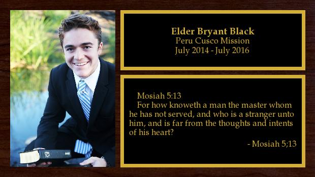 July 2014 to July 2016<br/>Elder Bryant Black