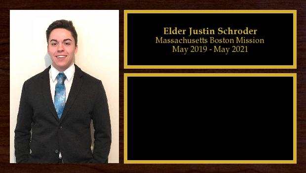 May 2019 to May 2021<br/>Elder Justin Schroder