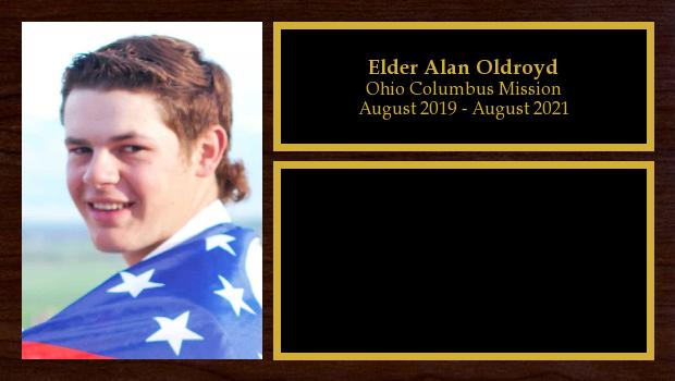 August 2019 to August 2021<br/>Elder Alan Oldroyd