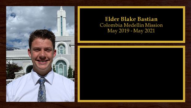 May 2019 to May 2021<br/>Elder Blake Bastian