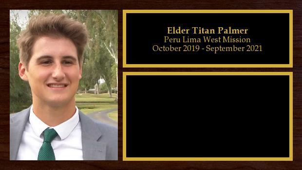 October 2019 to February 2020<br/>Elder Titan Palmer