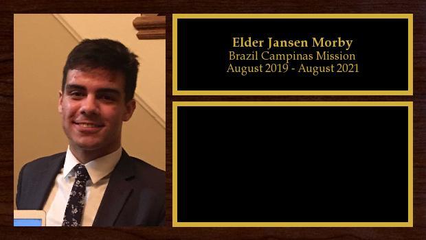 August 2019 to August 2021<br/>Elder Jansen Morby