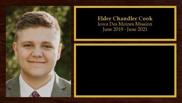 June 2019 to June 2021<br/>Elder Chandler Cook