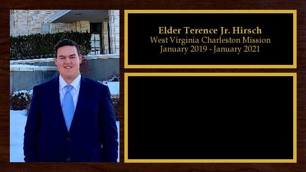 January 2019 to December 2020<br/>Elder Terence Jr. Hirsch