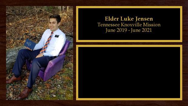 June 2019 to June 2021<br/>Elder Luke Jensen