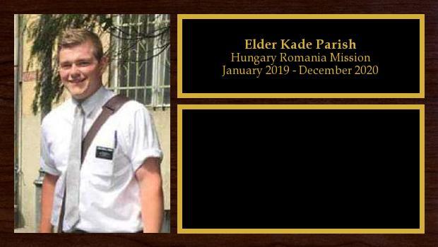 January 2019 to January 2021<br/>Elder Kade Parish