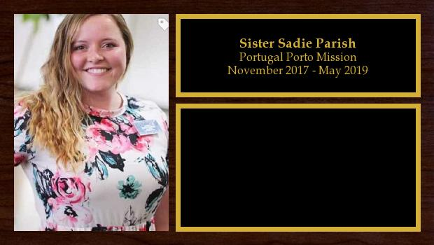 November 2017 to May 2019<br/>Sister Sadie Parish