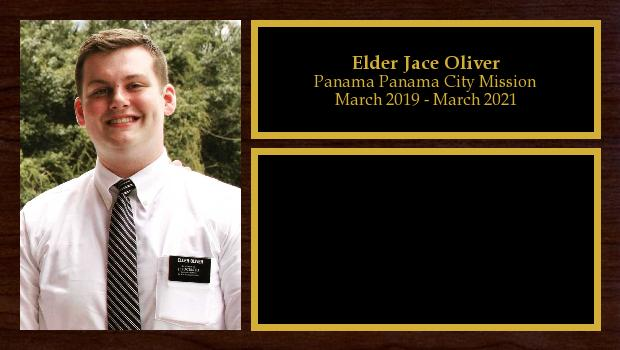 March 2019 to March 2021<br/>Elder Jace Oliver