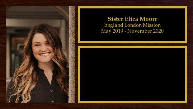 May 2019 to November 2020<br/>Sister Elica Moore