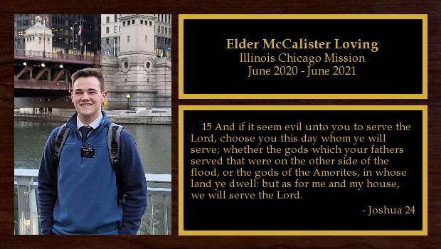June 2020 to June 2021<br/>Elder McCalister Loving