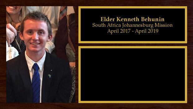 April 2017 to April 2019<br/>Elder Kenneth Behunin