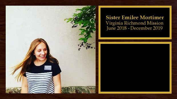June 2018 to December 2019<br/>Sister Emilee Mortimer