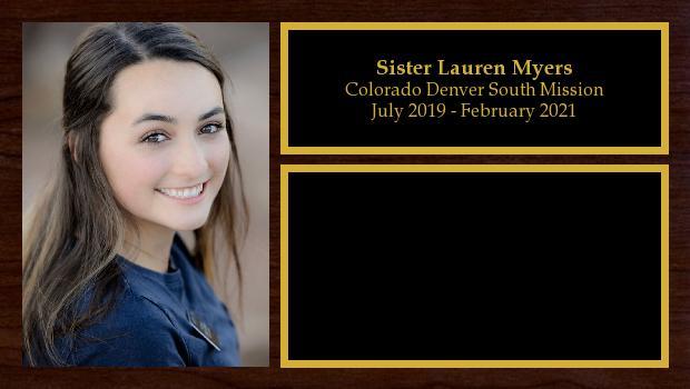 July 2019 to December 2020<br/>Sister Lauren Myers