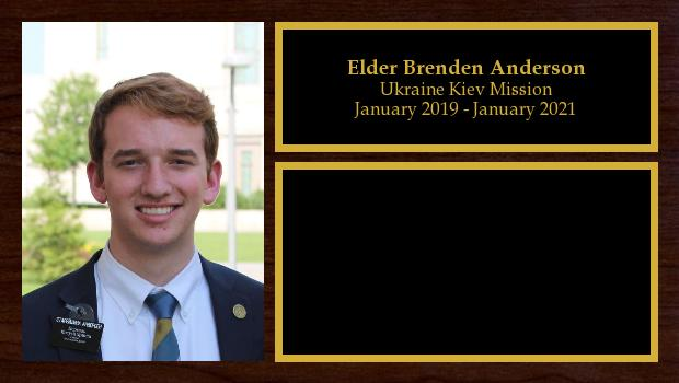 January 2019 to December 2020<br/>Elder Brenden Anderson
