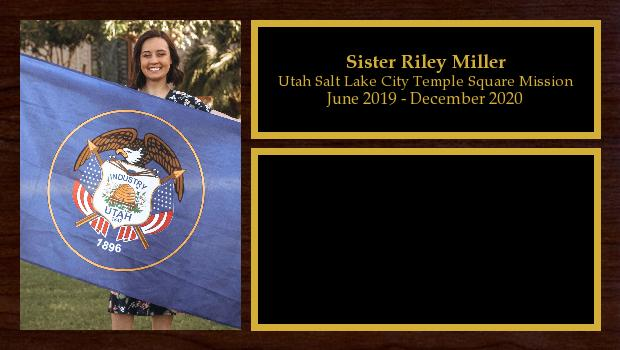 June 2019 to December 2020<br/>Sister Riley Miller