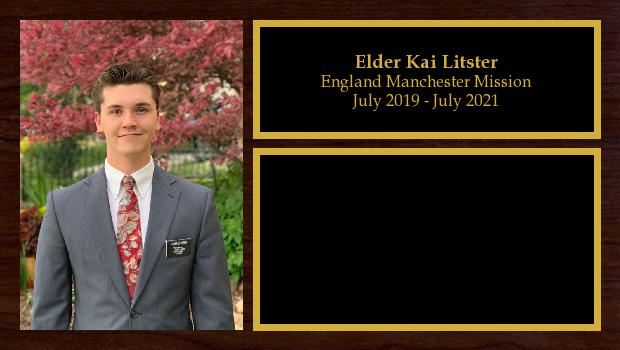 July 2019 to July 2021<br/>Elder Kai Litster