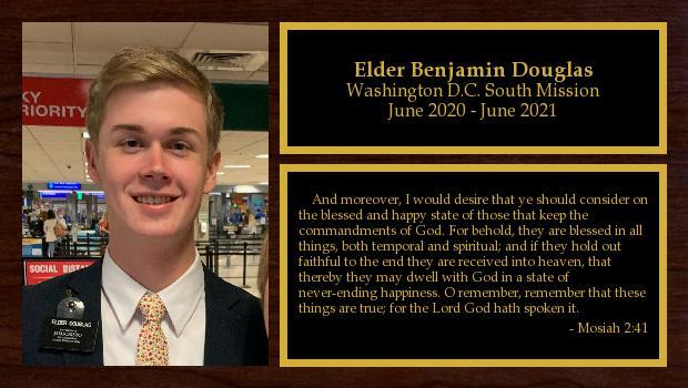 June 2019 to June 2021<br/>Elder Benjamin Douglas