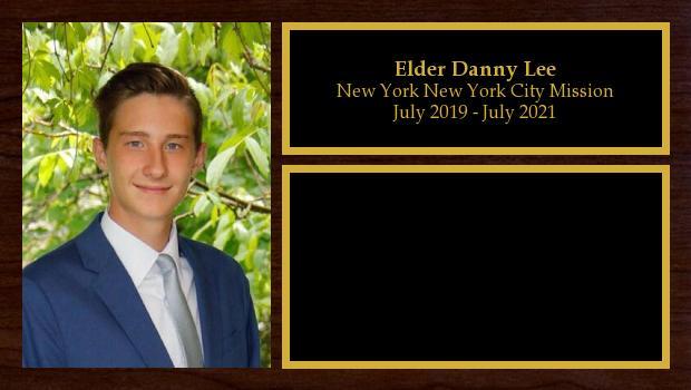 July 2019 to July 2021<br/>Elder Danny Lee