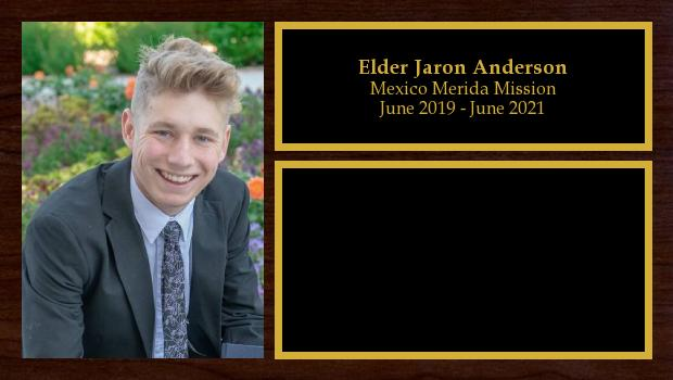 June 2019 to June 2021<br/>Elder Jaron Anderson