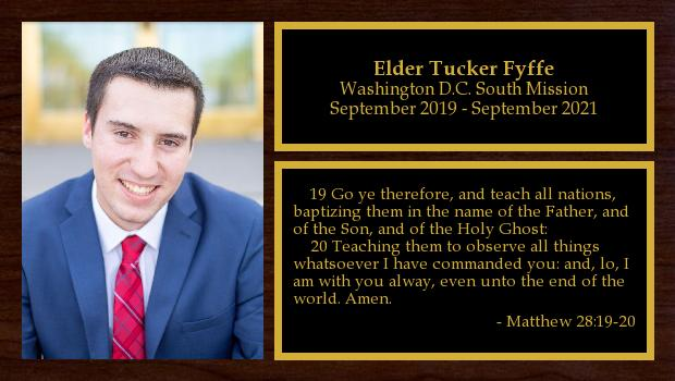 September 2019 to September 2021<br/>Elder Tucker Fyffe