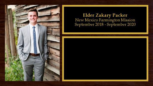 September 2018 to September 2020<br/>Elder Zakary Packer