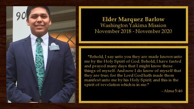 November 2018 to November 2020<br/>Elder Marquez Barlow