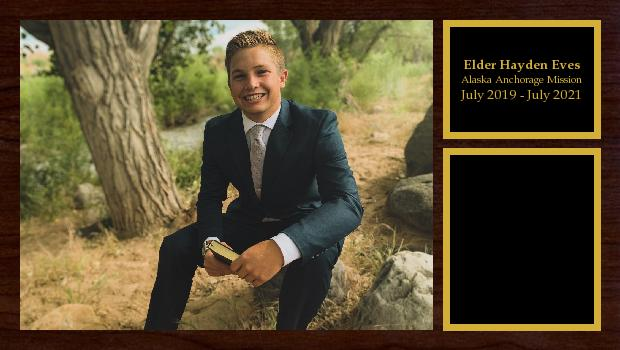 July 2019 to July 2021<br/>Elder Hayden Eves