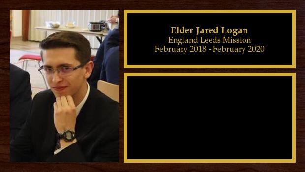 February 2018 to February 2020<br/>Elder Jared Logan