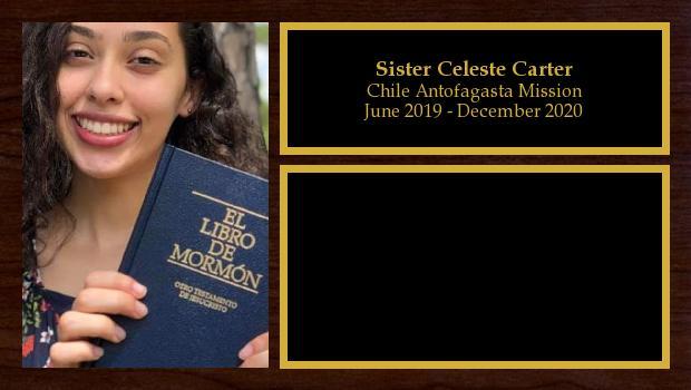 June 2019 to December 2020<br/>Sister Celeste Carter
