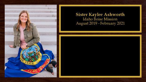 August 2019 to June 2021<br/>Sister Kaylee Ashworth