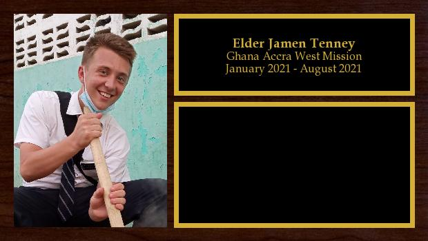 August 2019 to August 2021<br/>Elder Jamen Tenney