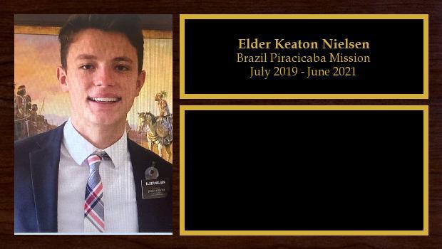 July 2019 to June 2021<br/>Elder Keaton Nielsen