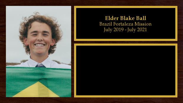 July 2019 to July 2021<br/>Elder Blake Ball
