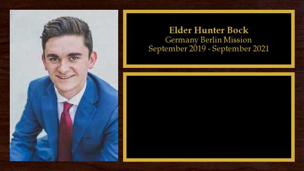 September 2019 to September 2021<br/>Elder Hunter Bock