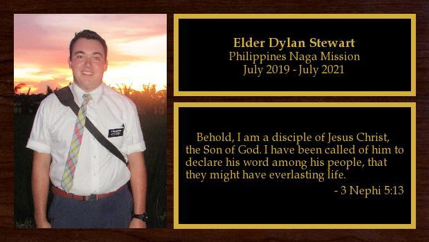 July 2019 to July 2021<br/>Elder Dylan Stewart
