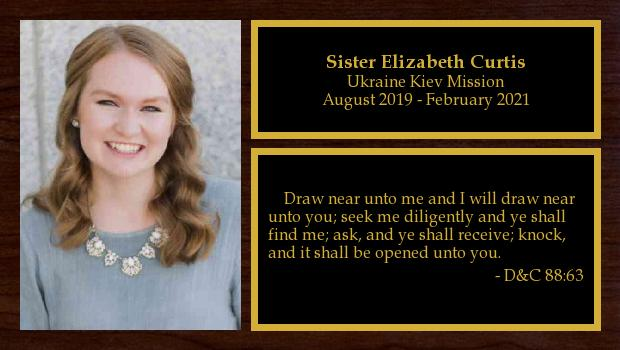 August 2019 to February 2021<br/>Sister Elizabeth Curtis