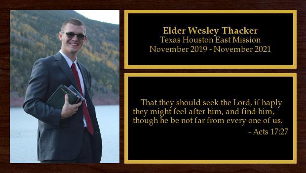 November 2019 to November 2021<br/>Elder Wesley Thacker